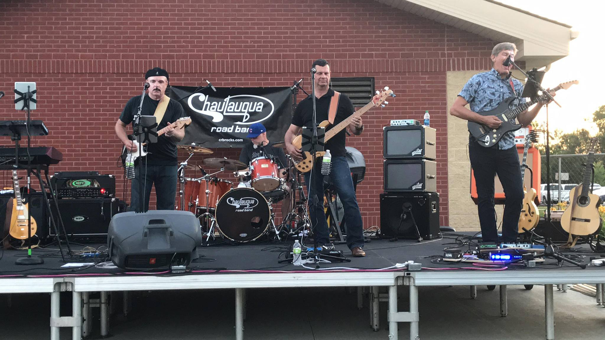 Chautauqua Road Band at Red Oak All-Class Reunion 2018: James, Paul, Mike, and Gregg