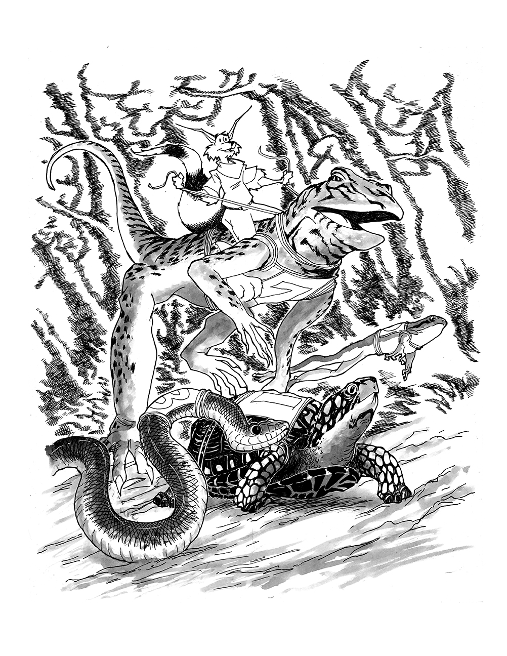 HERO Book One Pinup REPTILE RACE