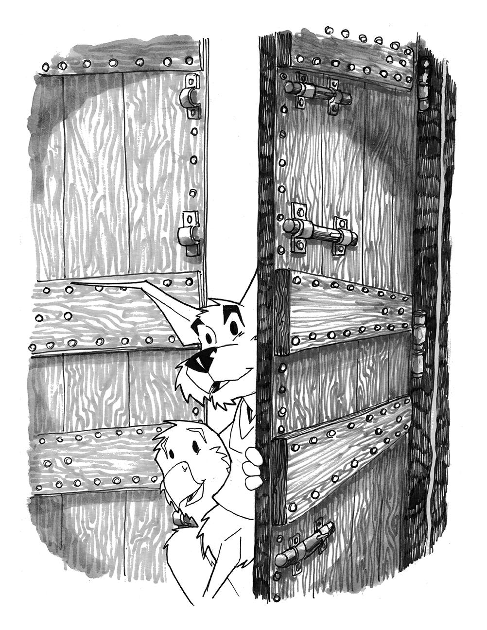 HERO Book Two Pinup DOOR 2