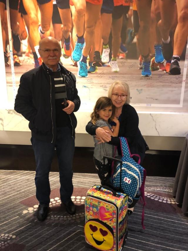 My parents and Emma when we arrived to the hotel late Friday 4/12/2019