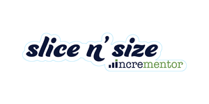 Die cut stickers of Slice n' Size