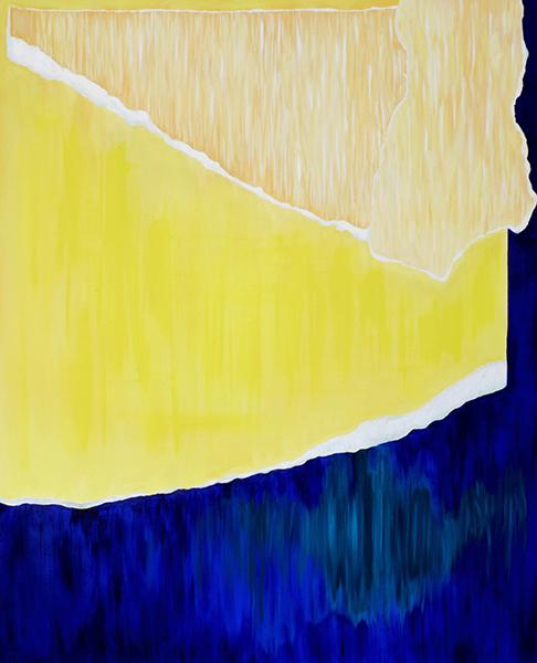 Papier Collé (Impalpable) , 2016  oil on canvas  152 x 121 cm