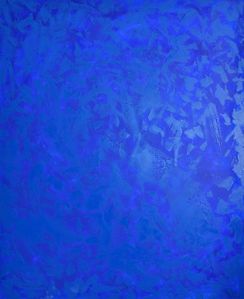 Coup de Foudre (Blue) , 2016  oil on canvas  152 x 121 cm