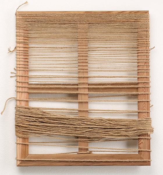 Boda (In Silence) , 2014  yarn and wood  55 x 45 cm