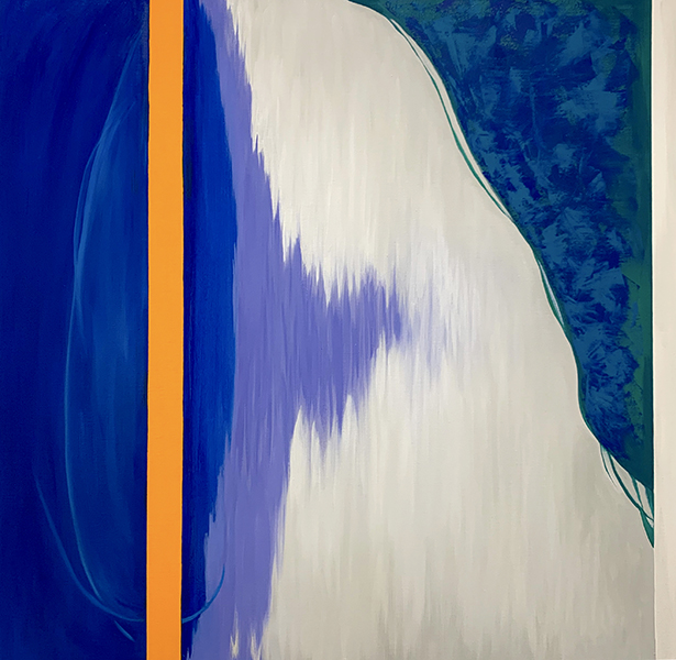 In Between , 2019  oil on canvas diptych  76 x 76 cm