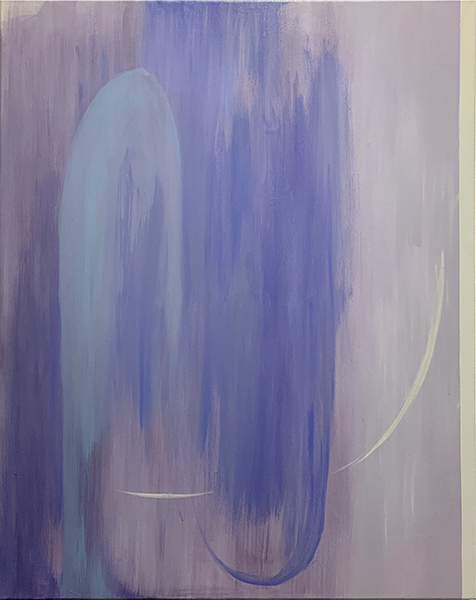 In Between , 2019  oil on canvas diptych  71 x 56 cm