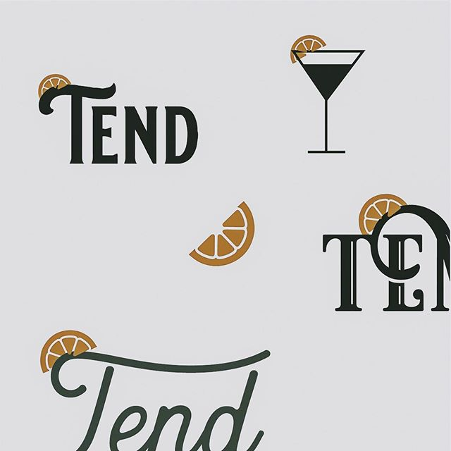 Concepts: this was some concepts for a traveling bar trailer for weddings and events. What a cool idea?! I'm still obsessed with the little lemon slice. In the printed pieces, we printed the lemon in gold foil. It's all in the details!