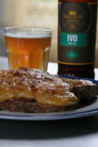 Enjoy your rarebit with a glass of pale ale, like Orbit Beer London's IVO