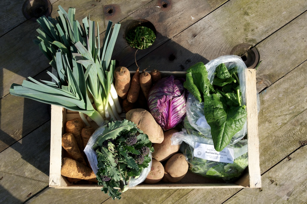 Enfield Veg Co  No air miles here! Mid winter veg from Forty Hall Farm and taking orders for Christmas veg hampers too.   http://www.enfieldveg.co.uk/