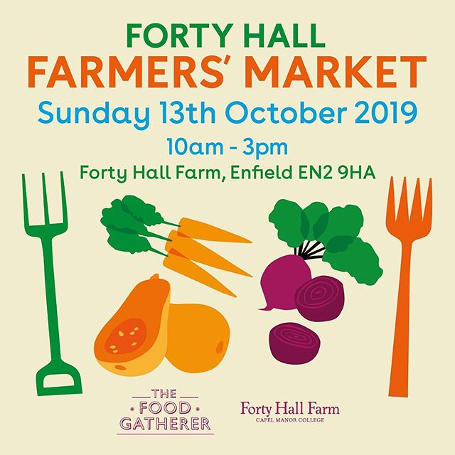 Make a date in your diary! Next farmers market is 13th October @fortyhall ! It also happens to be apple day on the farm, so there will be lots of extra fun and games ! See you there!  #fortyhallfarmersmarket #appleday #farmtofork