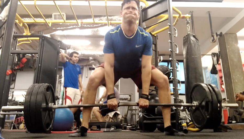 """Click on my beautiful """"deadlift face"""" to grab your """"Strength Training for Cycling Success"""" online program!"""