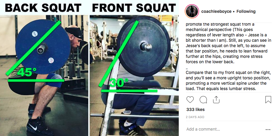 strength training for cyclists back squats or front squats
