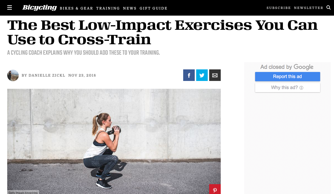 Coach Menachem Brodie shares with Bicycling Magazine the Best Exercises for Cyclists
