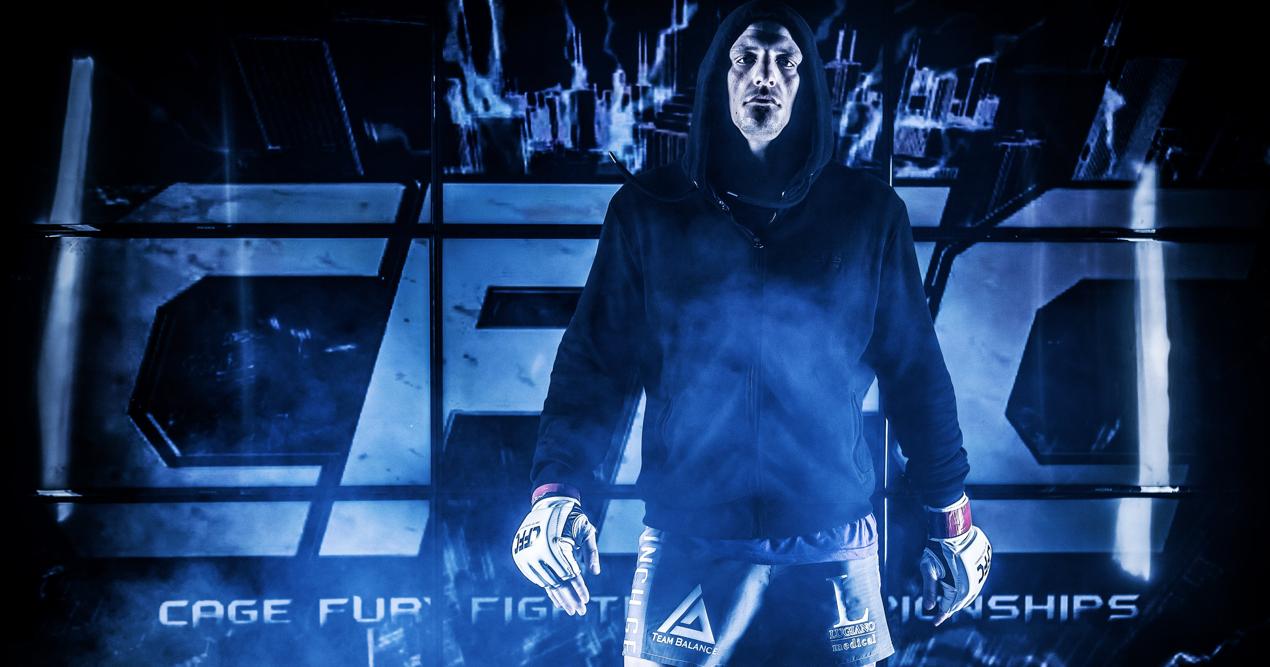 Anton Berzin makes his way to the cage ahead of a bout at Cage Fury Fighting Championships