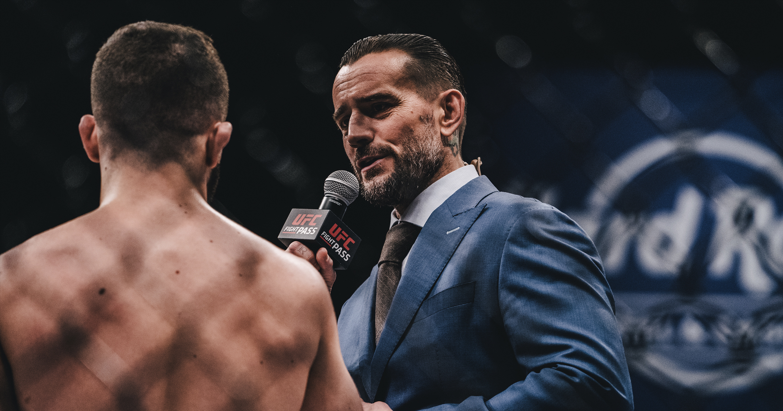 International star CM Punk calling the action as a CFFC broadcaster