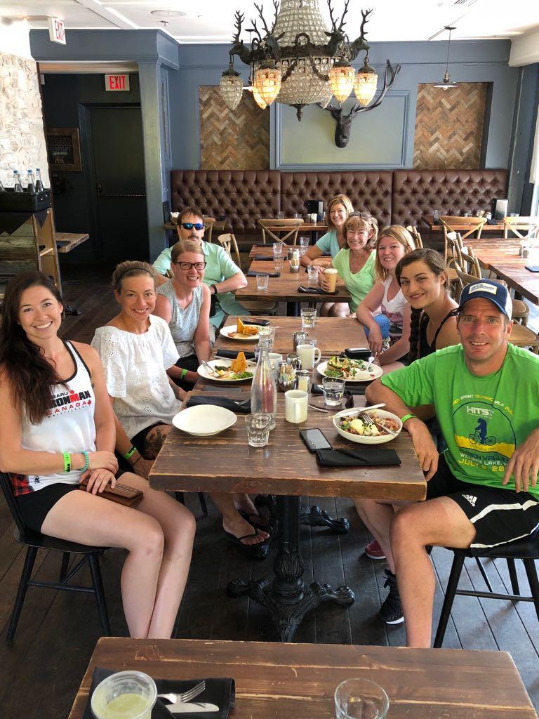 Post race team breakfast