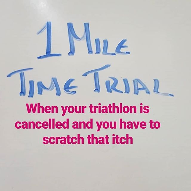 When the NYC Triathlon is cancelled due to hear and you still need to complete, so the swim coach writes a time trial. Training together is better #miletimetrial. #togetherisbetter #openwaterswimming #triathlontraining