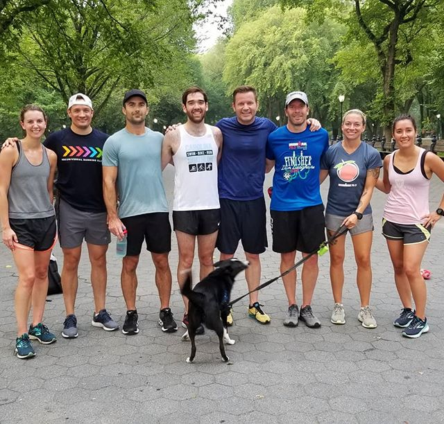 Speed work on a muggy day with Coach Tyler.  3x(2x400m :30RI +1x800m 1:30RI) + 1x800 all out.  Training together is better.  #togetherisbetter #speedworkout #triathlontraining #breakawayendurance