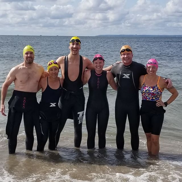 Gearing up for Lake Placid 70.3 with an open water swim practice.  Drills and skills.  Drafting.  Sighting.  Turns.  Training together is better.  #triathlontraining #openwaterswimming #halfironman #breakawayendurance