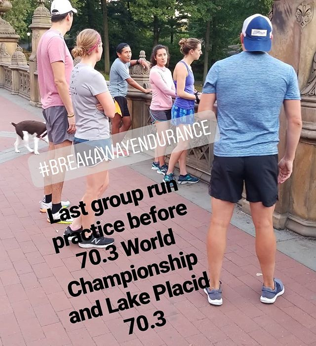 Coach Tyler going over tactics and techniques for attacking hills during a race. Good luck to Franz and @fabia_maramotti  racing in Nice World Championship.  And Good luck to @sandram83 @jennyjennyc @egonzcas @navthemike @tylerdraymond @gracie_morgan_tri @mgersh24 racing in Lake Placid 70.3. Training and racing together is better. #worldchampionshipnice2019 #lakeplacid703 #togetherisbetter  #breakawayendurance