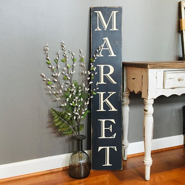 Dreaming of a spring market with fresh flowers and delicious fruits and veggies on this snowy day {sigh}. It's not too early to think about your spring decor. Check out our farmhouse collection on our website in bio.  Custom orders welcome! #shopfrederick #smallbusiness #sissyandco #frederickmd #shoplocal #springdecor #signage #woodsigns #signs #walldecor #market #maryland #frederick
