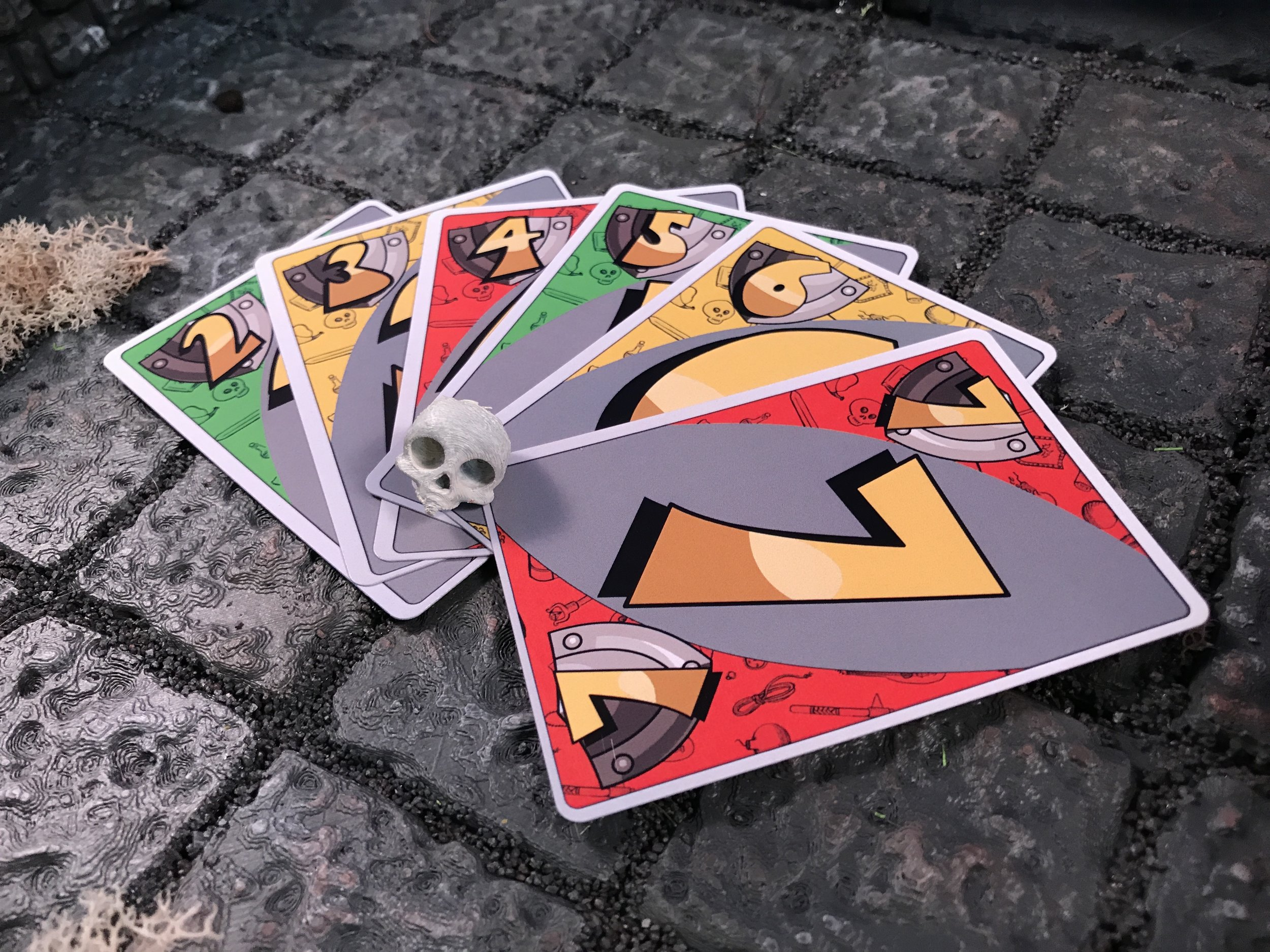 Players all have the simplified and easy to read Action Cards.