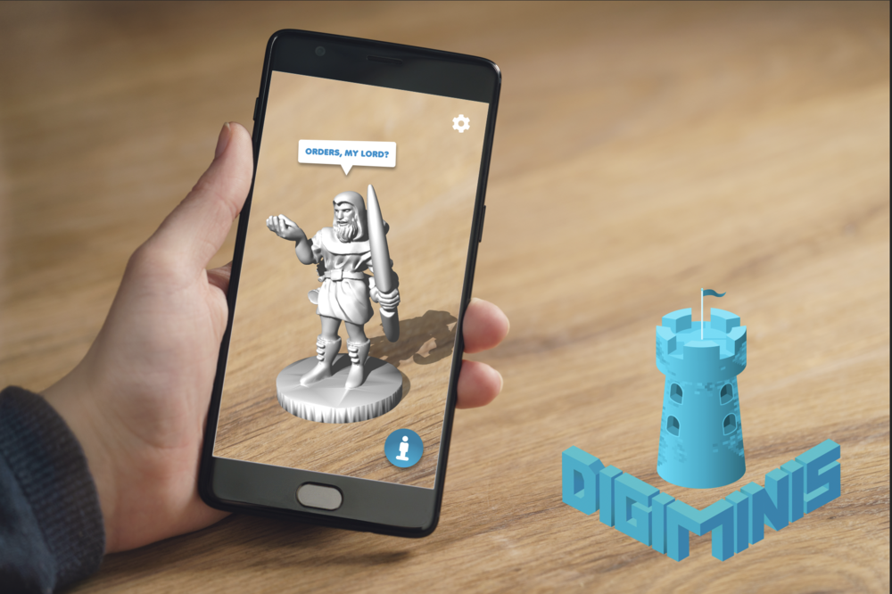 DigiMinis - The worlds first fully interactive digital miniatures are on the way. DigiMinis does everything real miniatures do and more, all at a fraction of the cost. By utilizing advanced AR and mobile technologies, you will be able to explore any adventure map from anywhere.