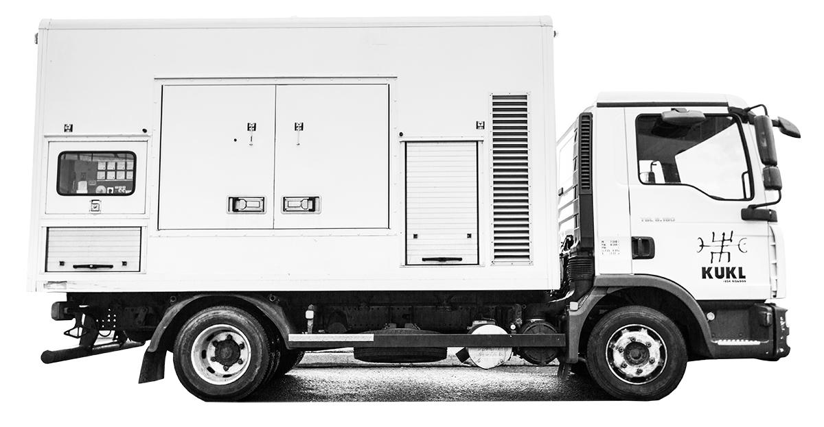Large Generator Truck