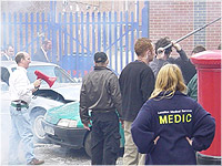 Medical cover while filming on set