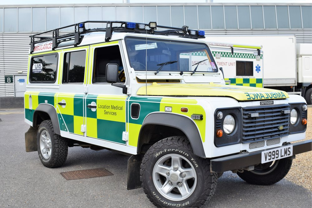 Landrover Defender with Stretcher