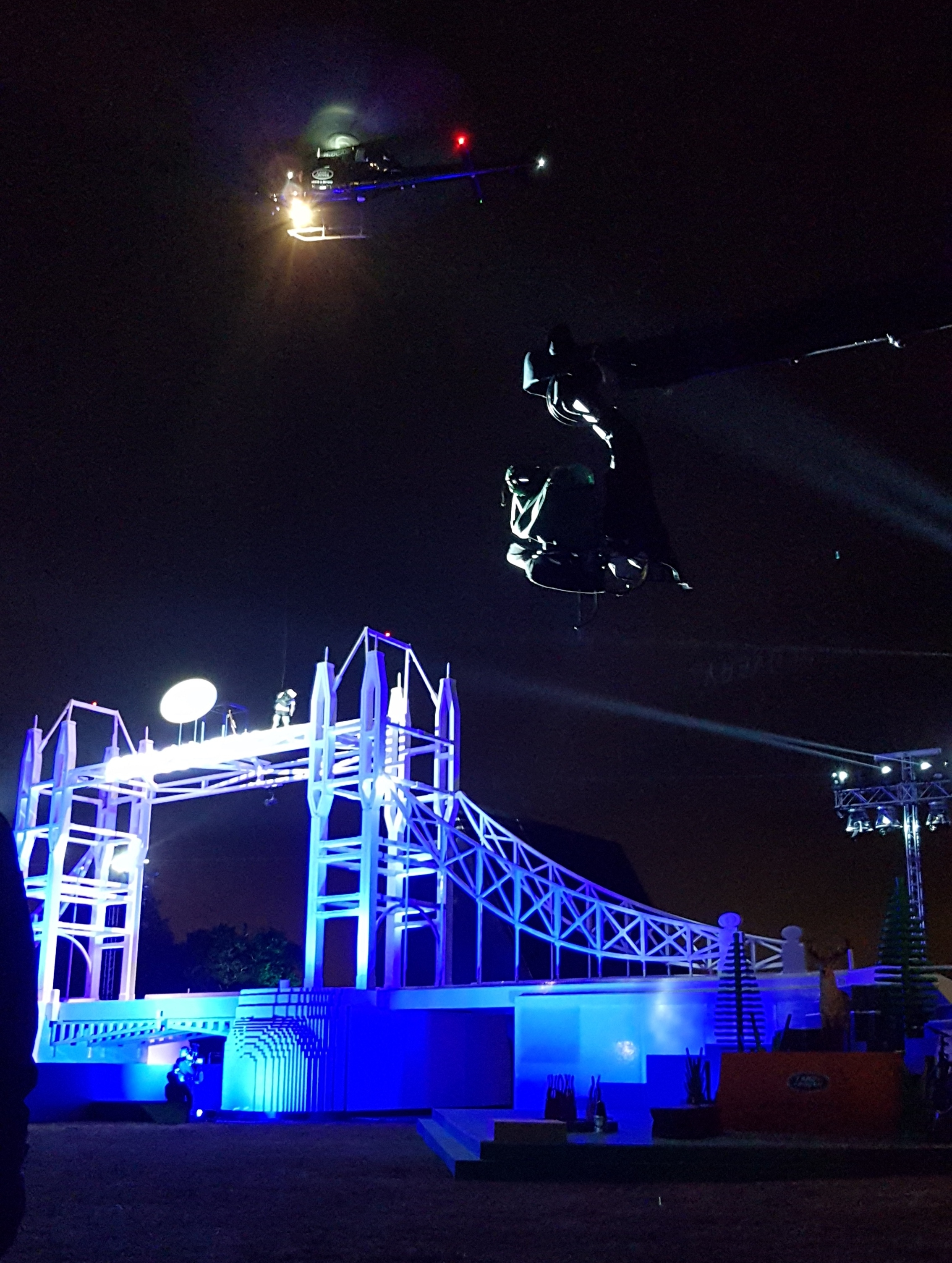 Commercial Stunt Filming at Launch Event