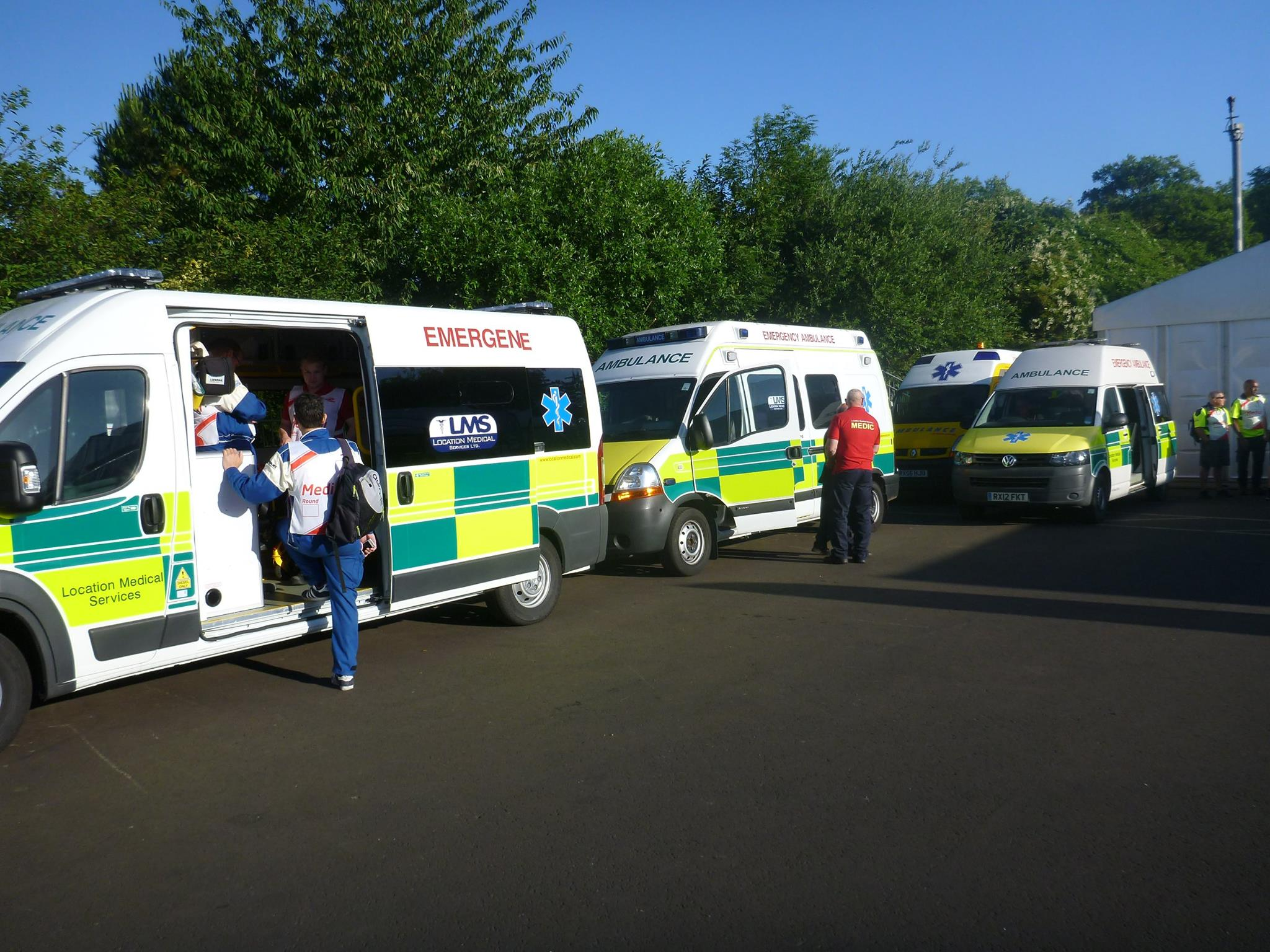 Motorsport Medics - Fleet of LMS Ambulances covering the event