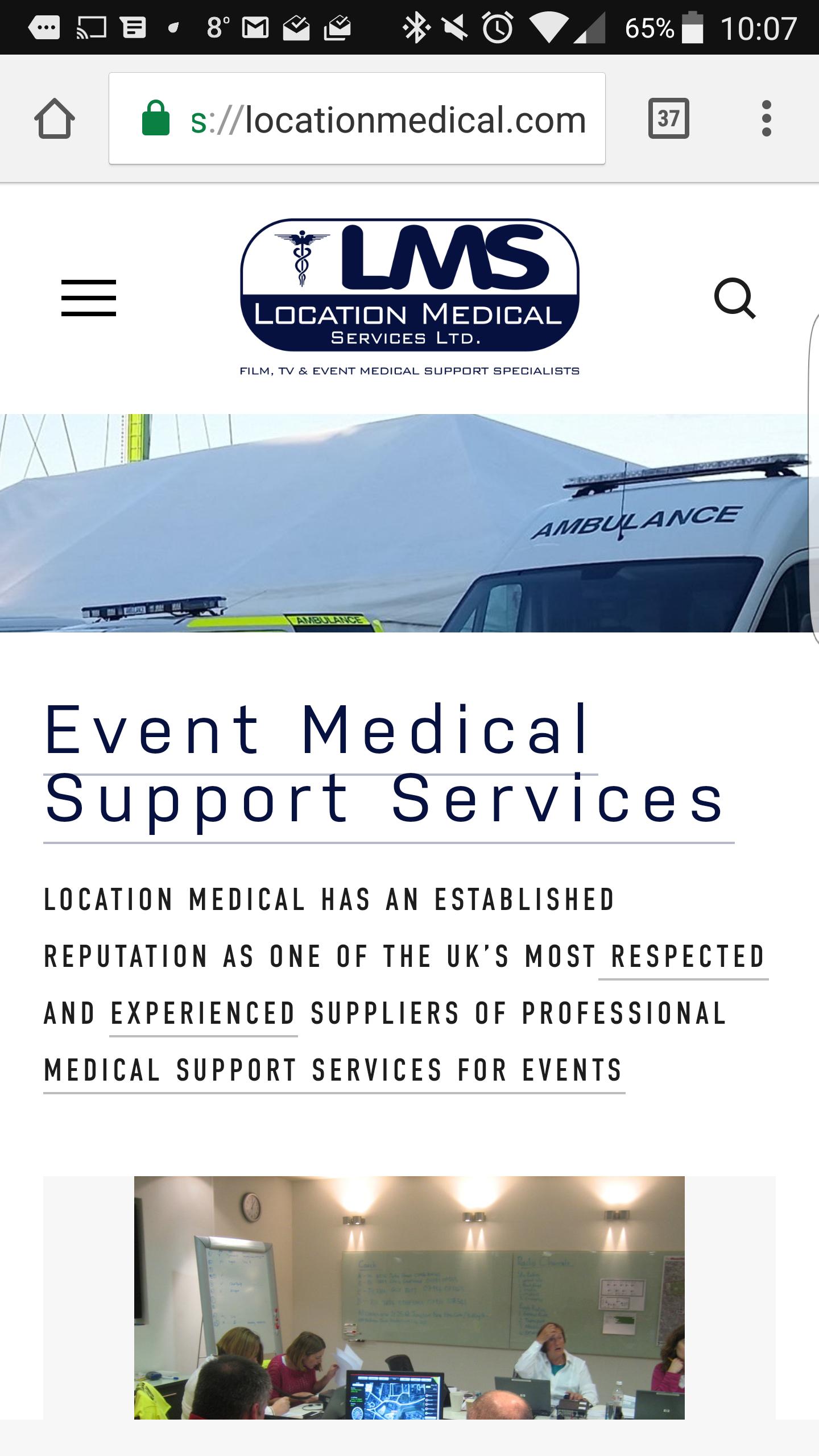 LMS Mobile website