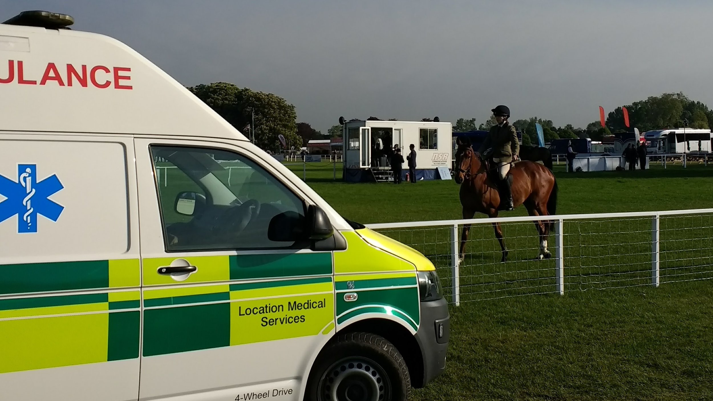 Paramedics Covering Horse Event