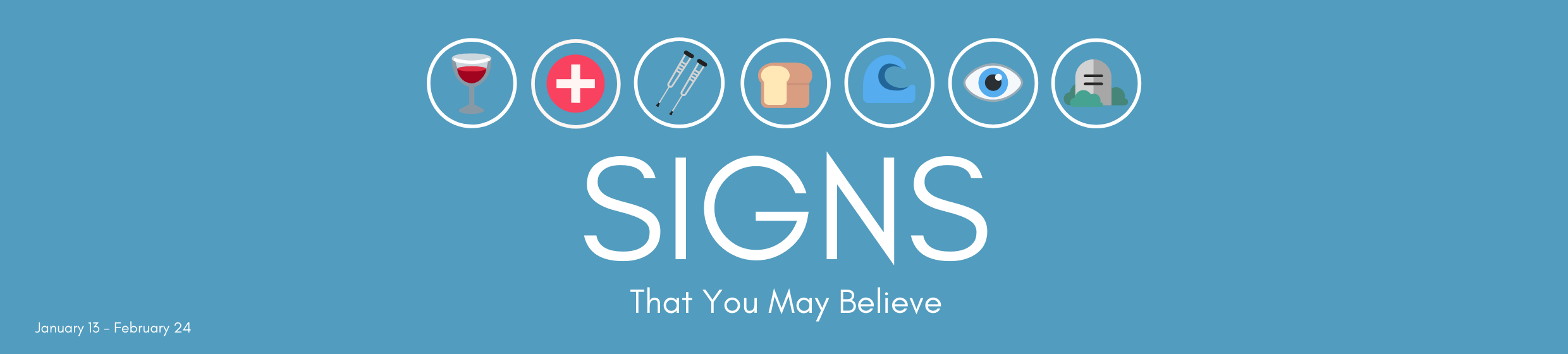 """In this series, we will be looking at each of the signs (or miracles) that John outlines in his gospel. These signs of Jesus were used """"to teach deep underlying lessons to his disciples.""""  Although these signs were performed a long time ago, the truths they carry with them show us very clearly who Jesus is and how we should live today."""