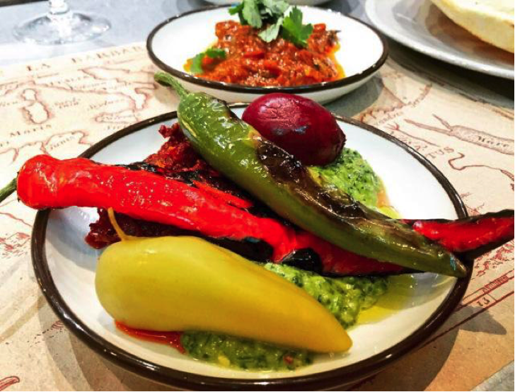 The Barbary, Lunch - Zhug, Harrissa, Burnt & Pickled Chilli