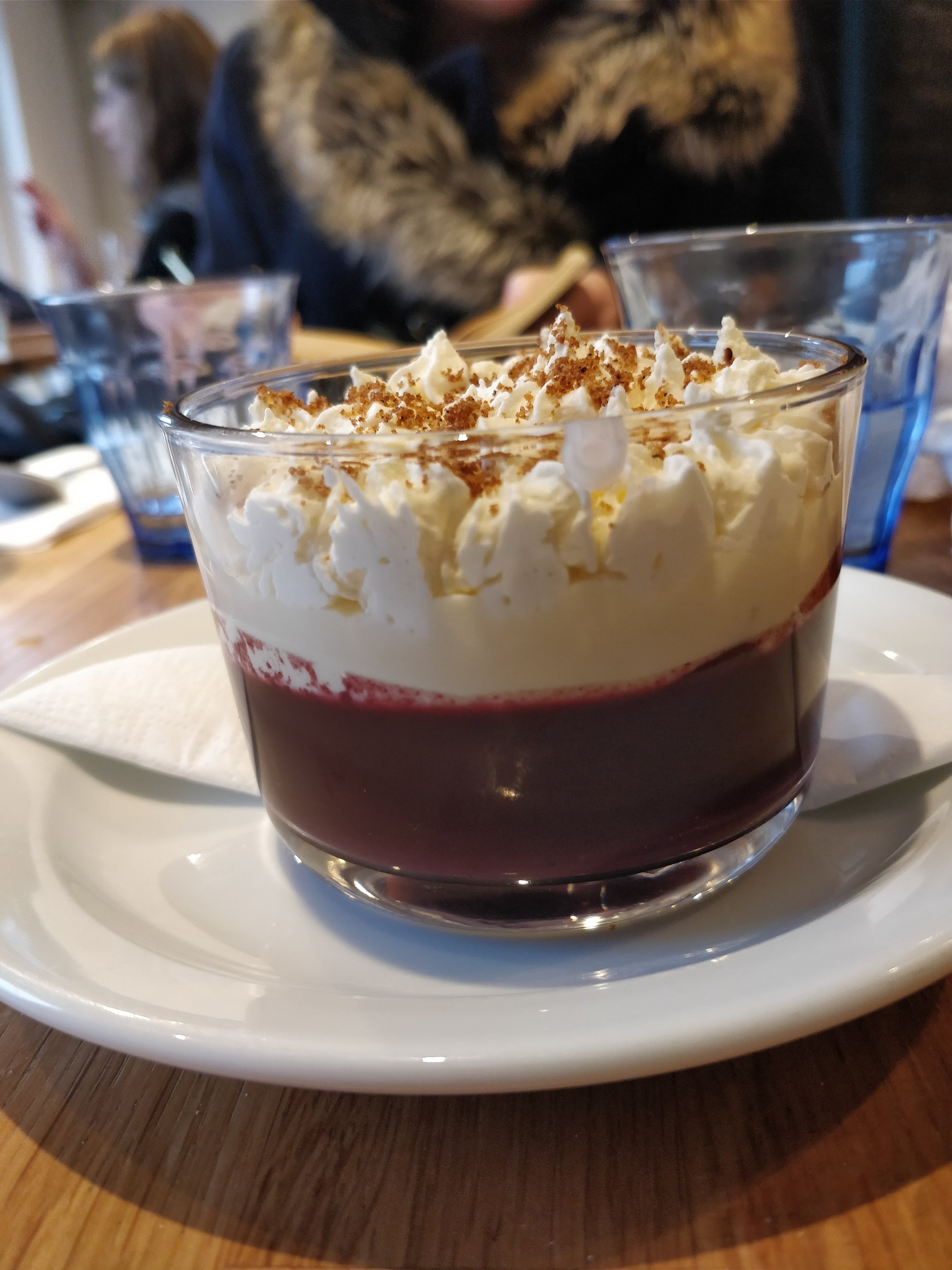 Blackberry Trifle at Lupins