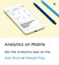 App para dar seguimiento a los analytics en Squarespace