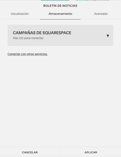 Campañas de Squarespace