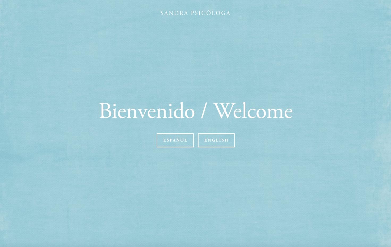 Ejemplo de página de portada para sitio web bilingüe en Squarespace.png