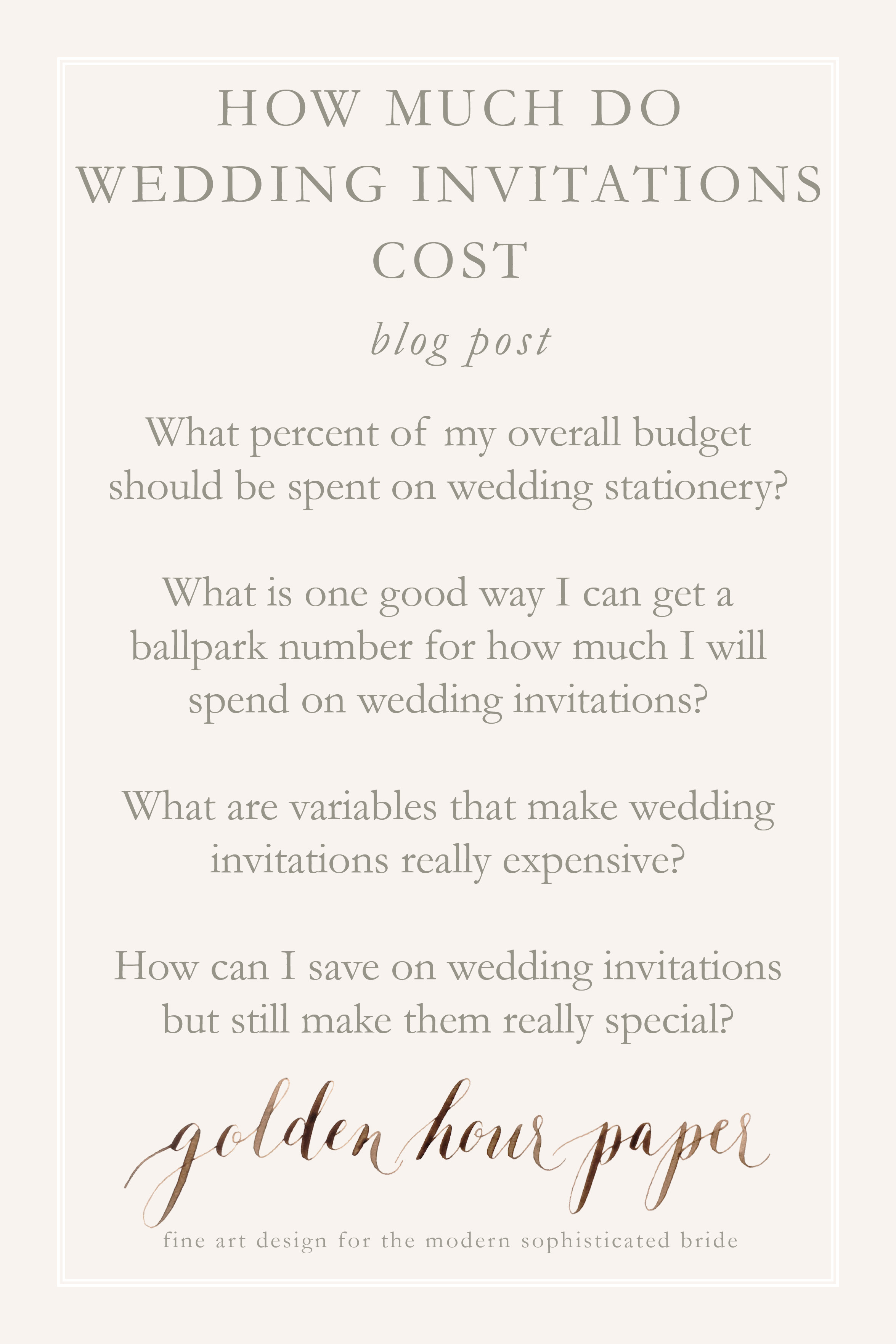 how to save on wedding invitations