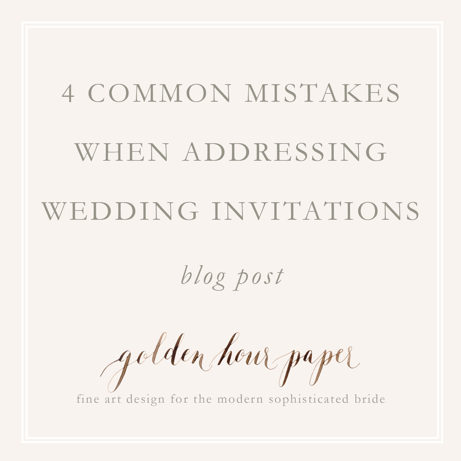 Common Mistakes When Addressing Wedding Invitations And How To