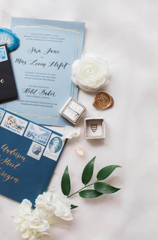 custom wedding invitations for winter wedding