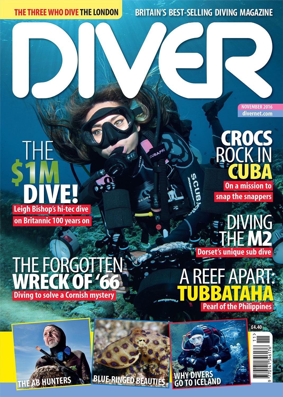 Front Cover DIVER Magazine - November 2016