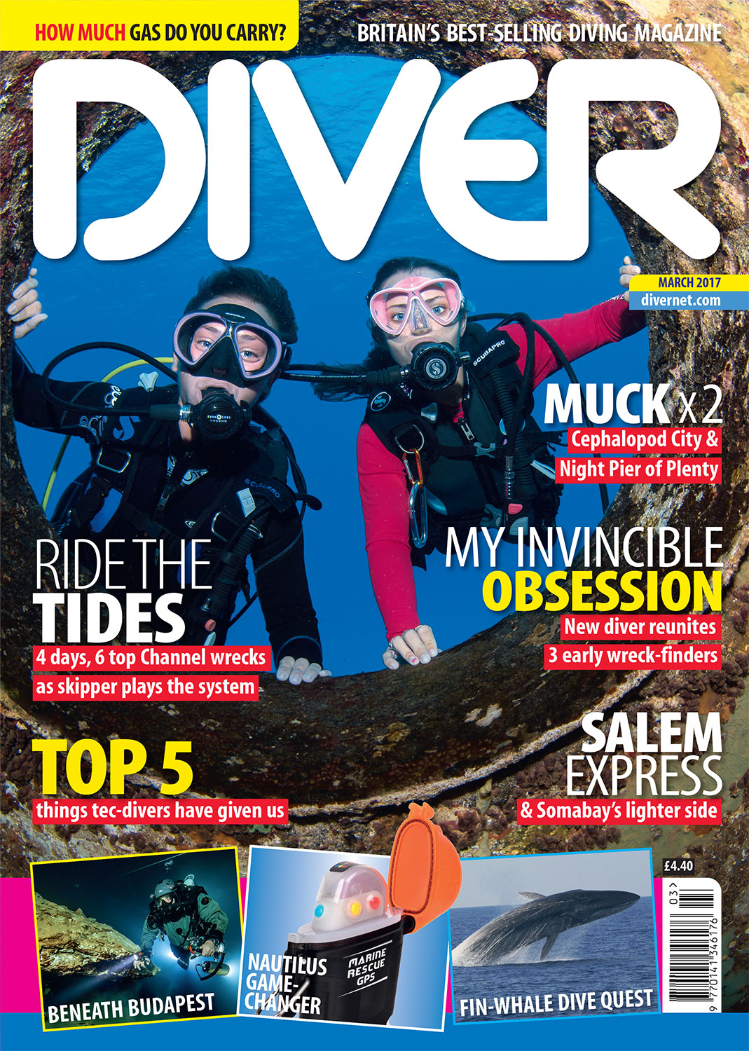 Front Cover DIVER Magazine - March 2017