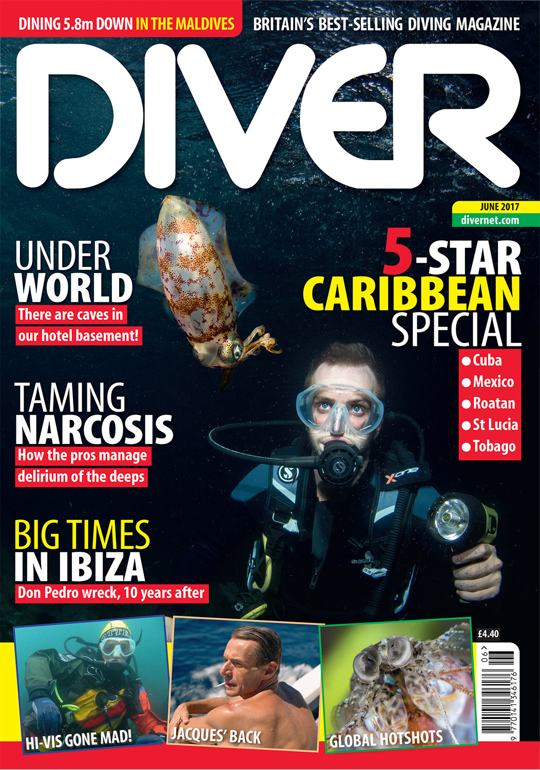 Front Cover DIVER Magazine - June 2017