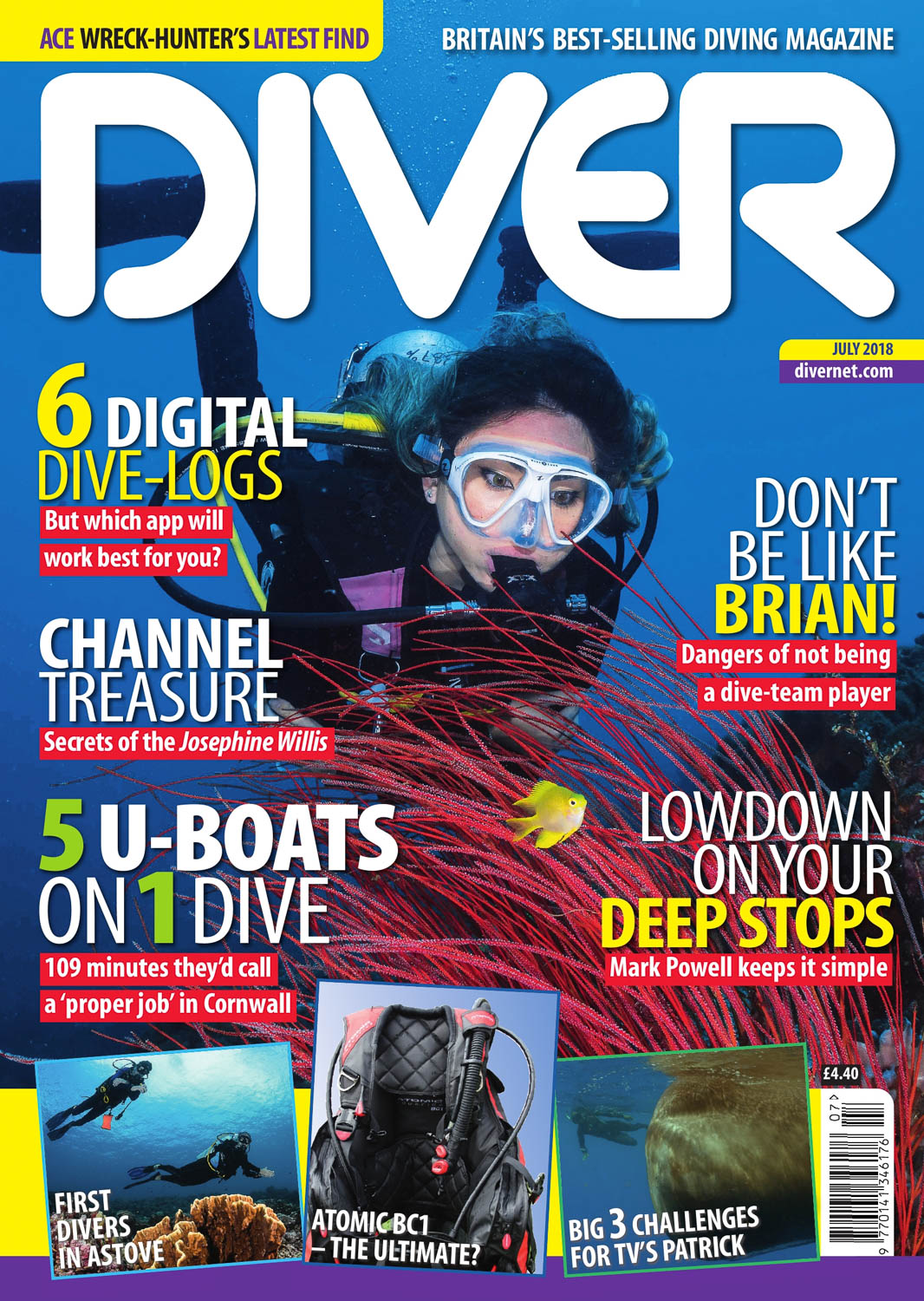 Front Cover DIVER Magazine - July 2018