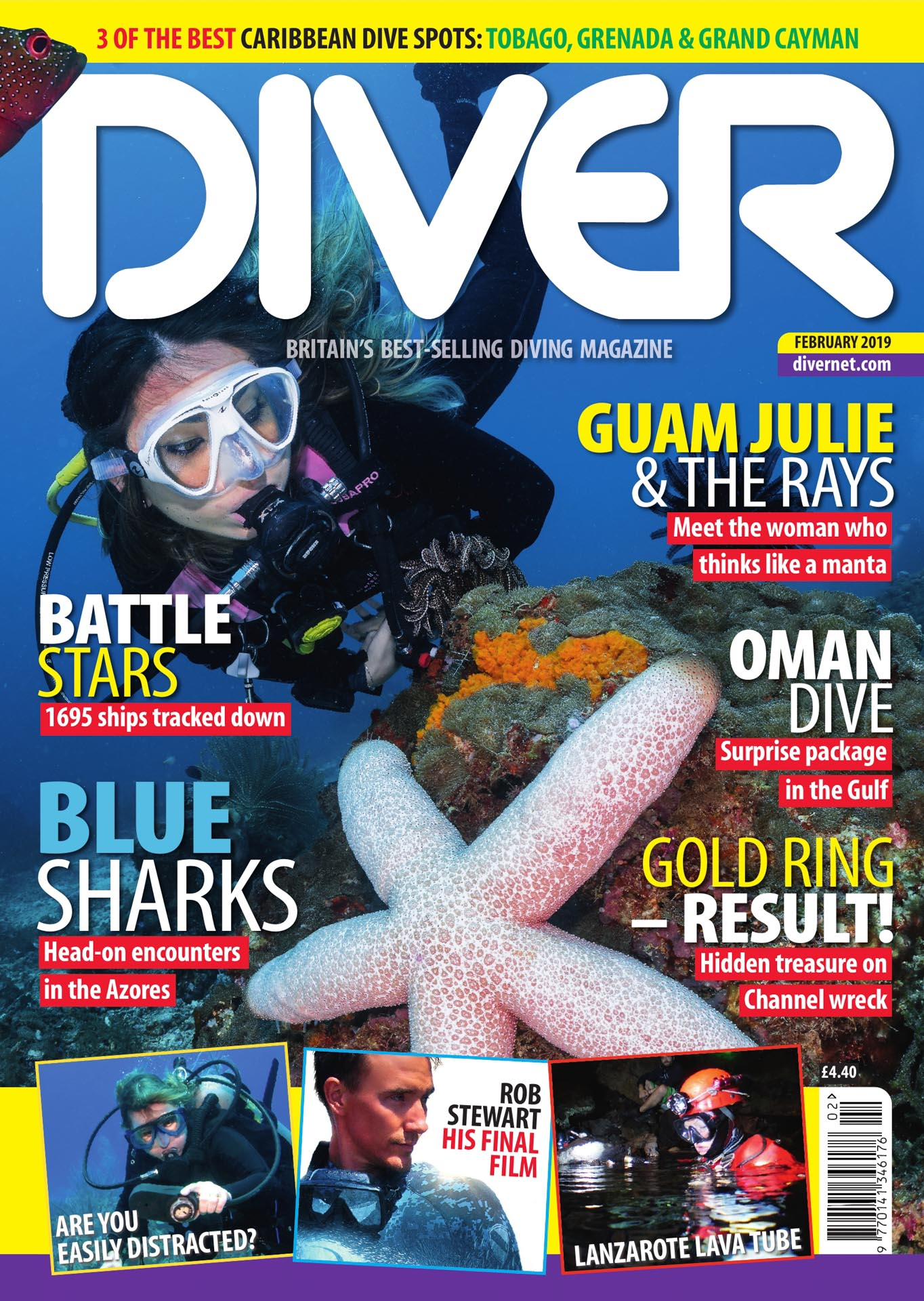 Front Cover DIVER magazine - February 2019