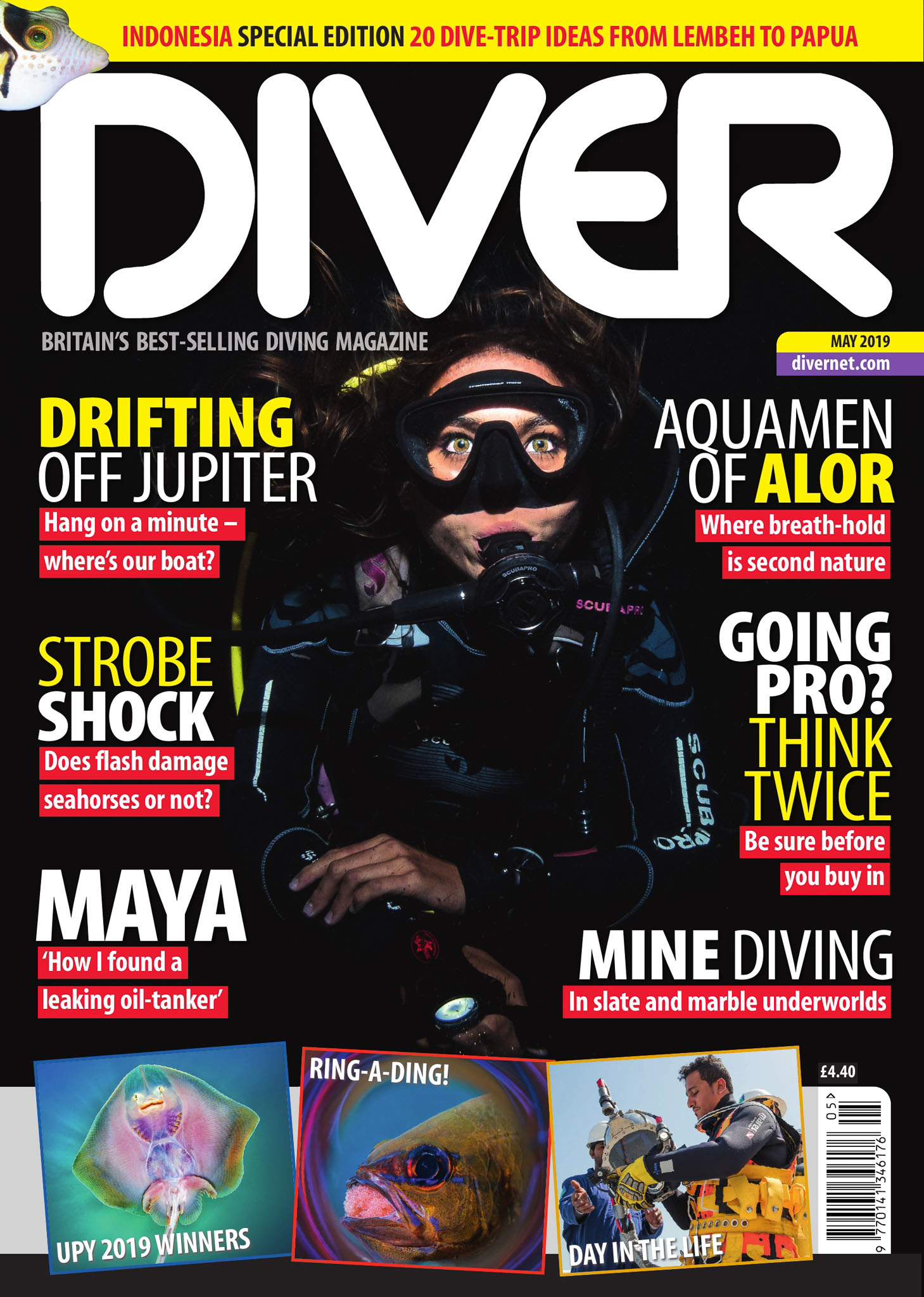 Front Cover DIVER magazine - May 2019