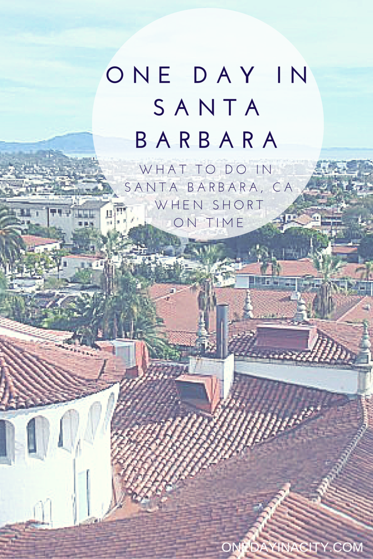 ONE DAY IN A CITY - Gina's Day Trip to Santa Barbarahttp://www.onedayinacity.com/one-day-in-santa-barbara/